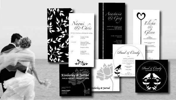 Black White Wedding Invitations: Wedding Style: Easy Black And White