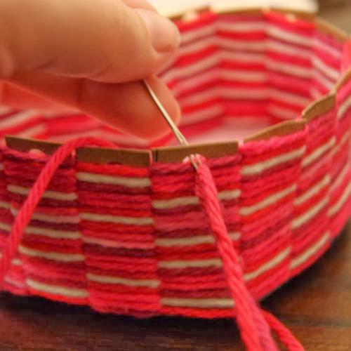 Diy Heart Shaped Yarn Basket The Idea King
