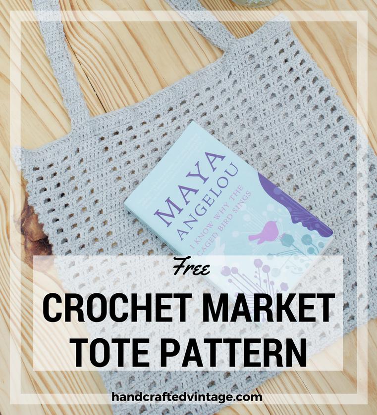 Handcrafted Vintage Crochet Marketbeach Tote