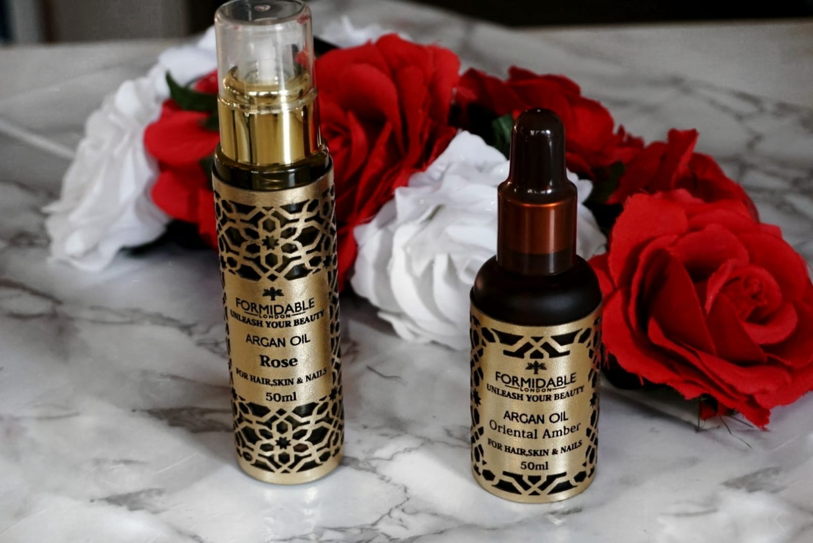 EXCLUSIVE RELEASE : ORIENTAL AMBER AND ROSE ARGAN OILS BY FORMIDABLE LONDON