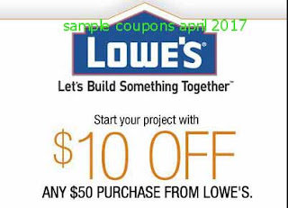 free Lowes Home Improvement coupons april 2017