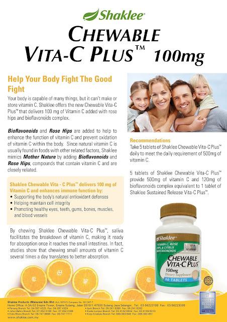 suplemen vitamin c untuk kanak-kanak yang sihat