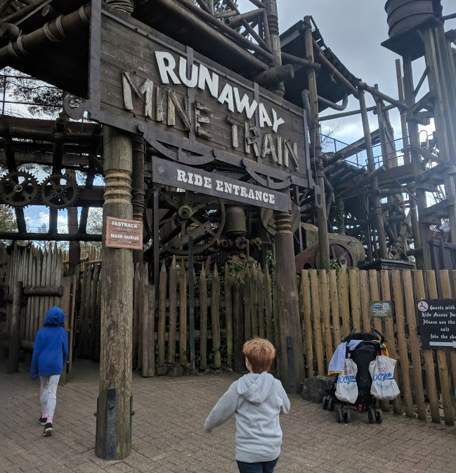 Visiting Alton Towers with Children who are 1.3m Tall - Itinerary & Tips  - Runaway Mine Train