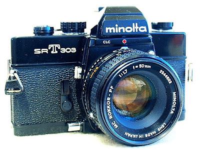 Minolta SRT-303, Front left