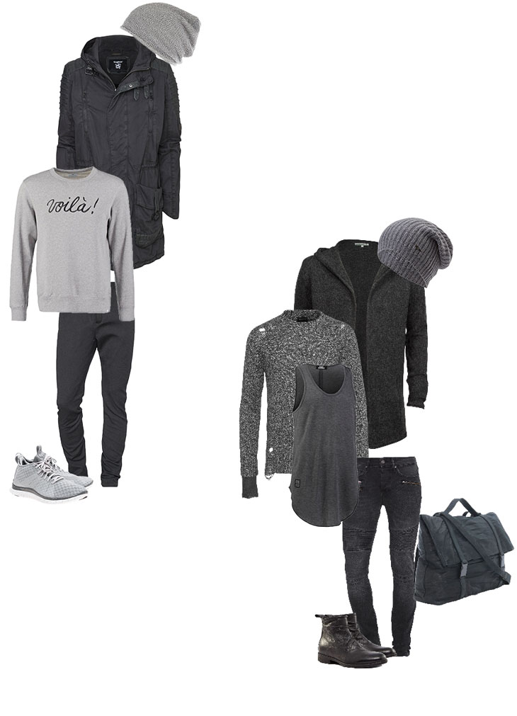 2 Outfits: Shades Of Grey