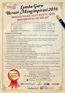 Lomba Guru Berani Menginspirasi 2016 dari Penerbit Erlangga