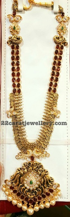 Two Layer Ruby Set with Kasu Coins