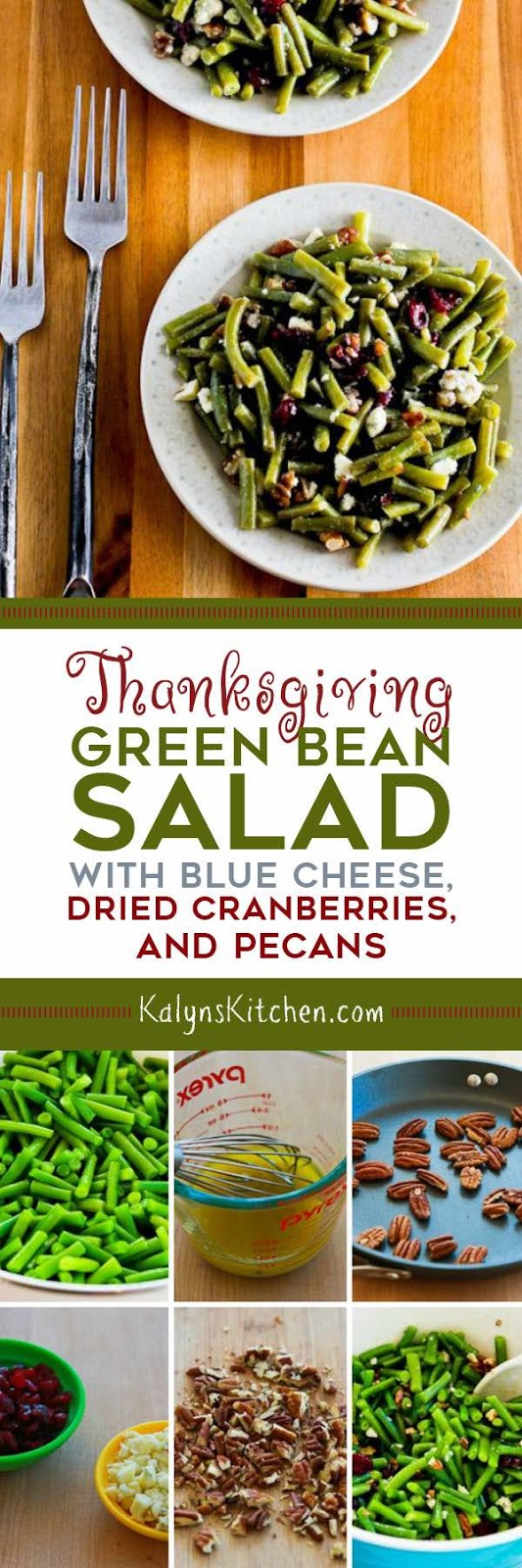 Green Bean Salad with Blue Cheese, Dried Cranberries, and Pecans ...