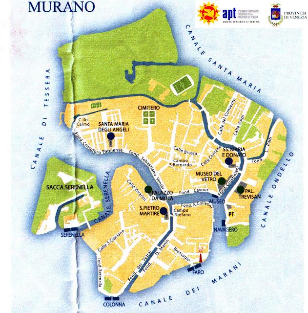 Mapa de Murano