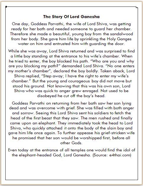 Cerita Inggris Dewa Ganesha