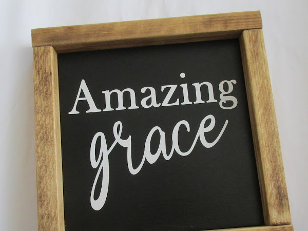 Farmhouse Decor Sign: Amazing Grace