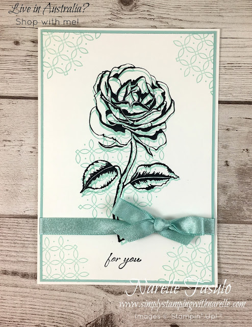 A gorgeous floral stamp set that is so easy to create gorgeous projects with - http://bit.ly/2yaRp6Z - Simply Stamping with Narelle