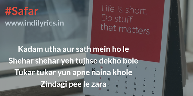 Safar | Notebook | Mohit Chauhan | Quotes | Images