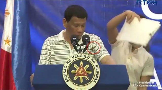 Video Viral Kecoak Merambat di Baju Presiden Filipina, Begini Reaksi Rodrigo Duterte