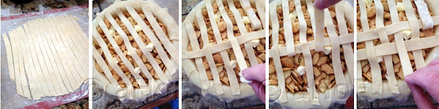 Making a lattice top pie crust