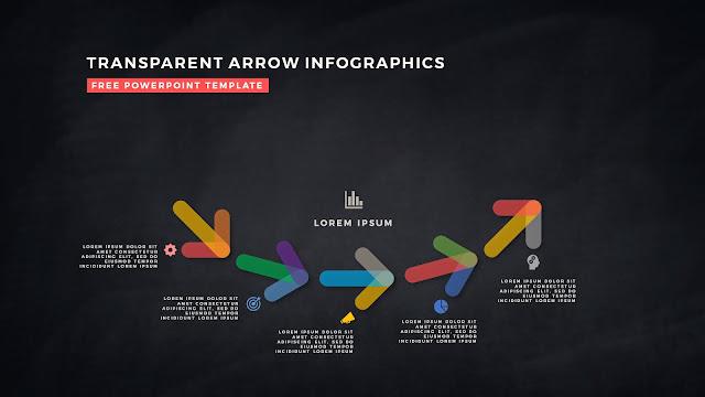 Transparent Arrow Design Elements for Free PowerPoint Template Slide 18