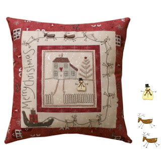 Lynette Anderson Designs CHRISTMAS EVE Stitchery Pillow Pattern + Buttons