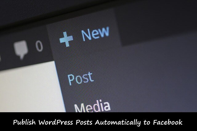 auto post to faecbook in WordPress