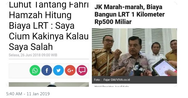 Warganet Tagih Janji Luhut Cium Kaki Fahri Hamzah