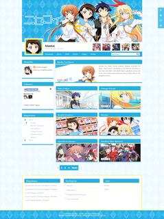 Nisekoi Blogger Template 2015