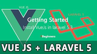 Laravel 5 Vue Js Tutorial : How to Install Vue Js & Getting start in laravel 5