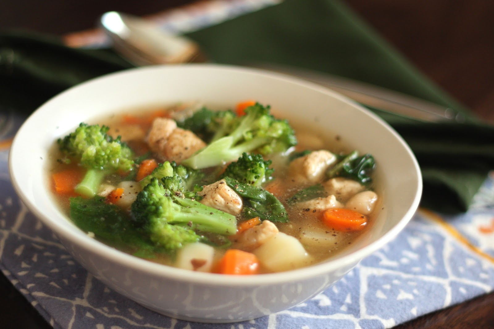 Barefeet In The Kitchen: Chicken Vegetable Soup with Red Potatoes