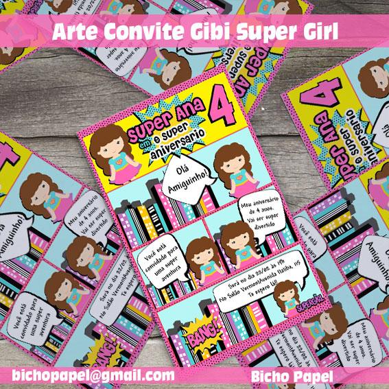 Convite Gibi SuperGirl
