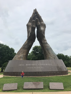 July Weekend Adventure - Praying Hands at Oral Roberts University