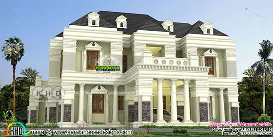 5 BHK luxury Colonial model 6500 sq-ft house