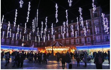 Mercadillo navideño, Madrid en Navidad, Plaza mayor de Madrid