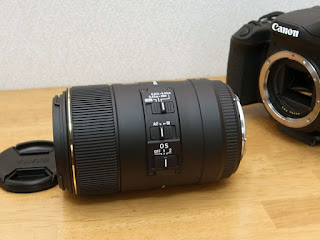 SIGMA MACRO 105mm F2.8 EX DG OS HSM for Canon スイッチ部