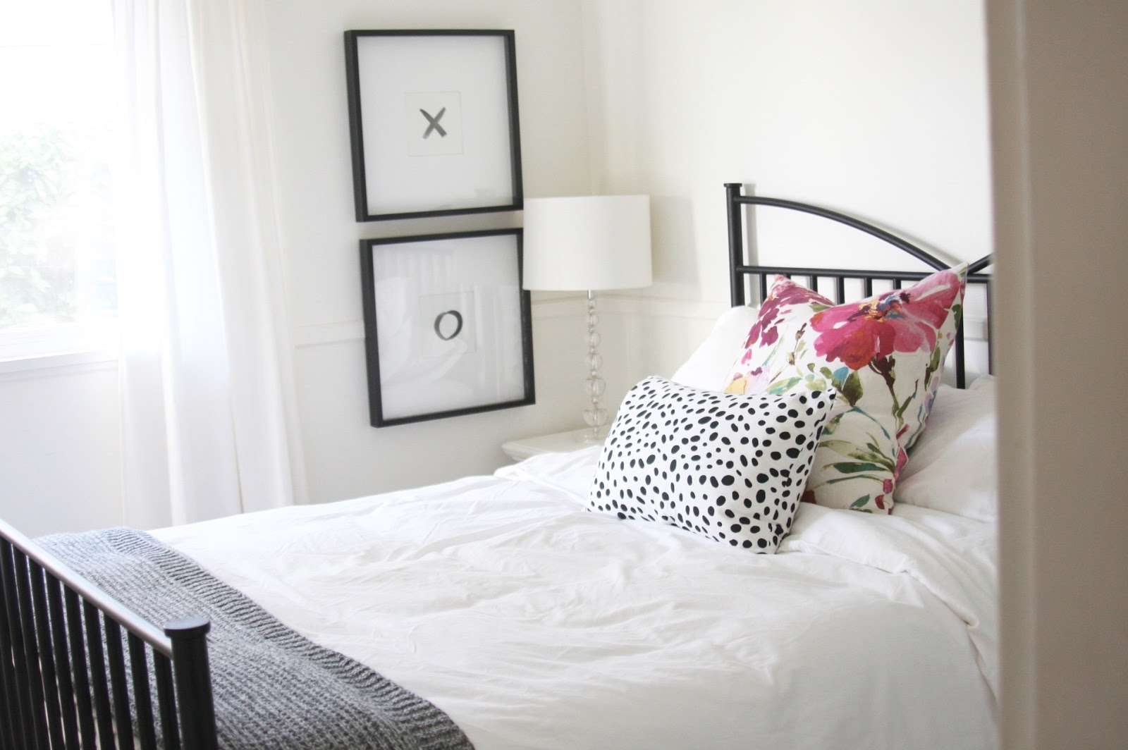 Our Guest Room Was A Sad Dark Room That A Few Years Ago Received A Fresh  Coat Of Warm White Paint. We Are Renting So No Major Renovations Can Be  Done But ...