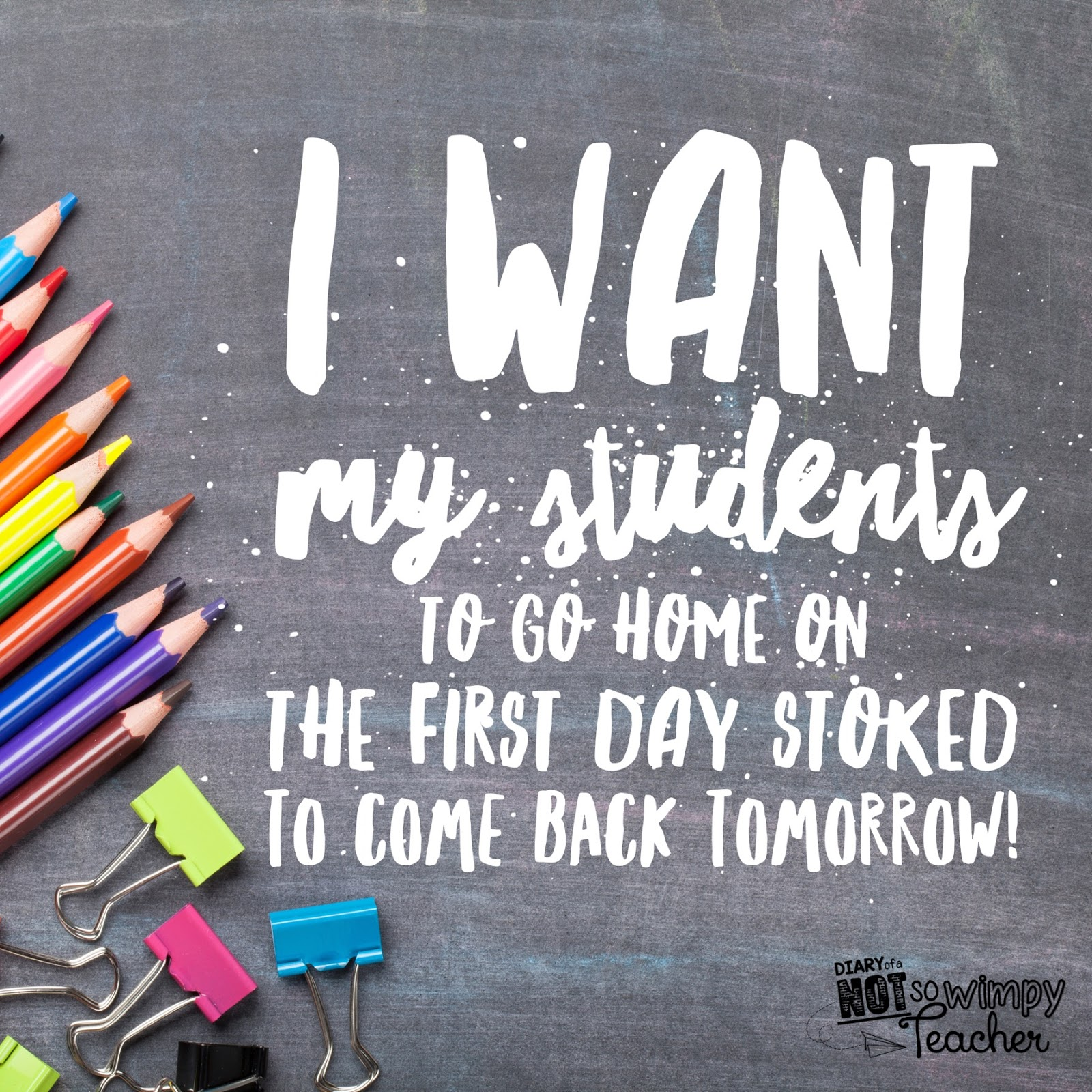 Should the first day of school be fun? - Not So Wimpy Teacher