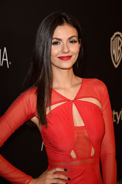 Actress, Singer, @ Victoria Justice - InStyle And Warner Bros. Golden Globe Awards Post-Party in Beverly Hills