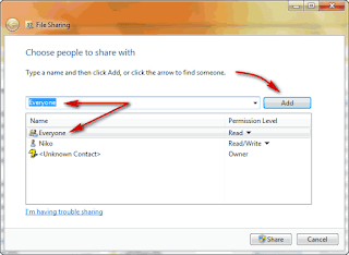 Cara Sharing Folder data dan File pada Windows