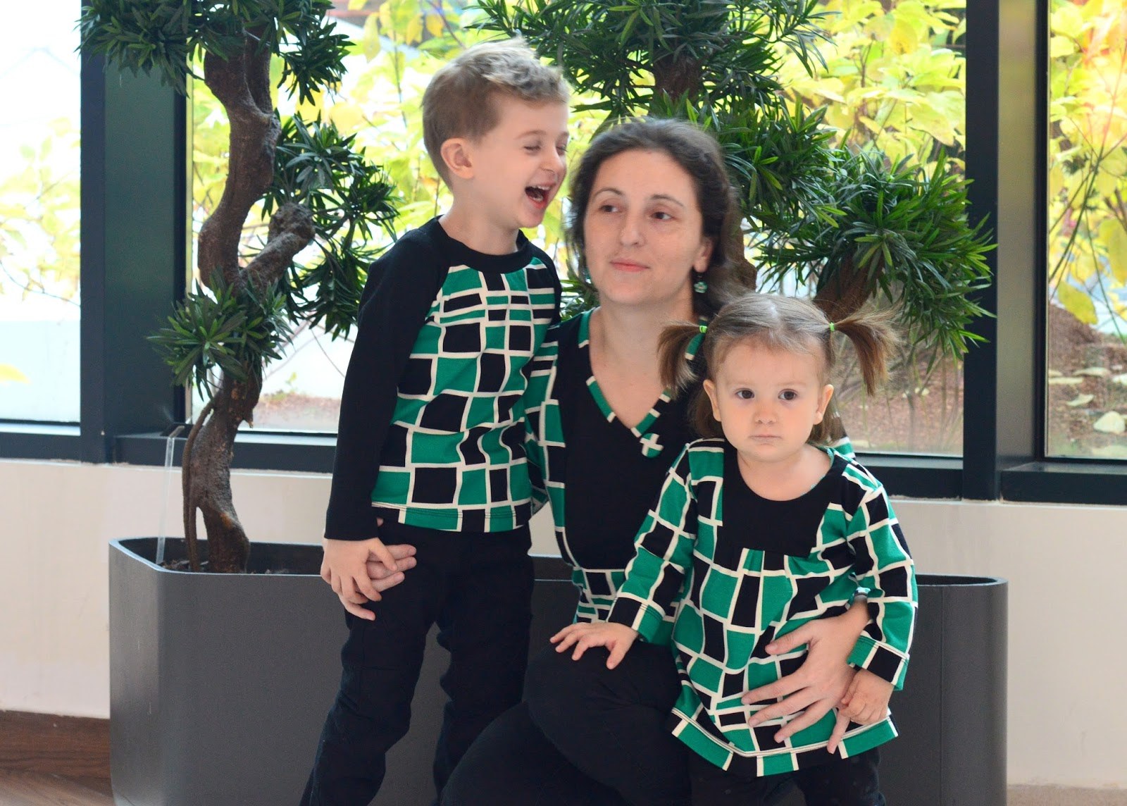 781eb42cf3fc7 The holiday season is getting close and we wanted to create a feel of even  closer in coordinating outfits. I got this green, black & white jersey a  week or ...