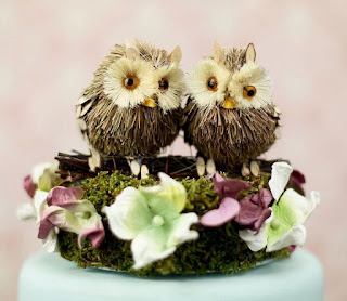 Unique Owl Wedding Cake Topper