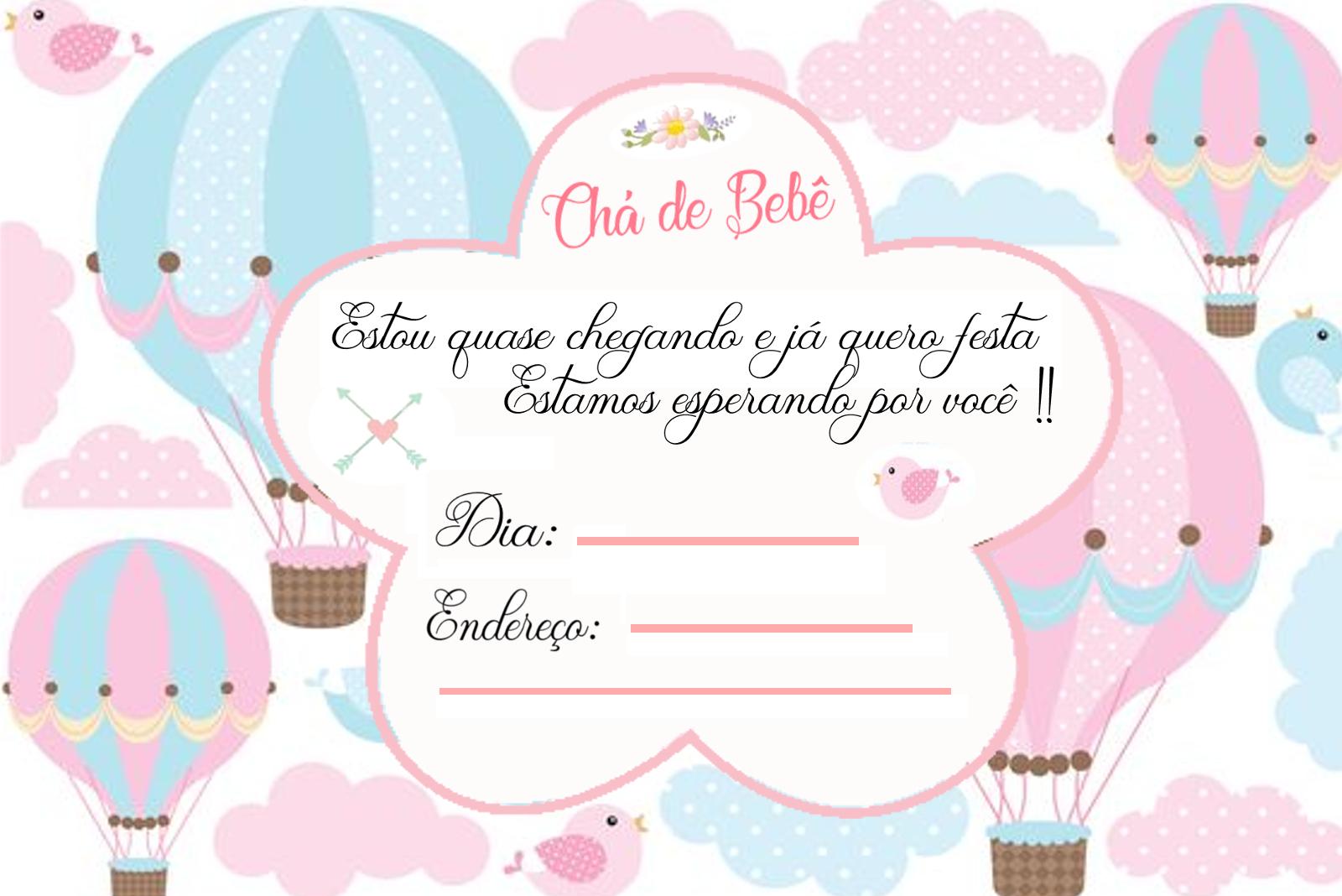 Convite Cha De Bebe Pronto Para Imprimir
