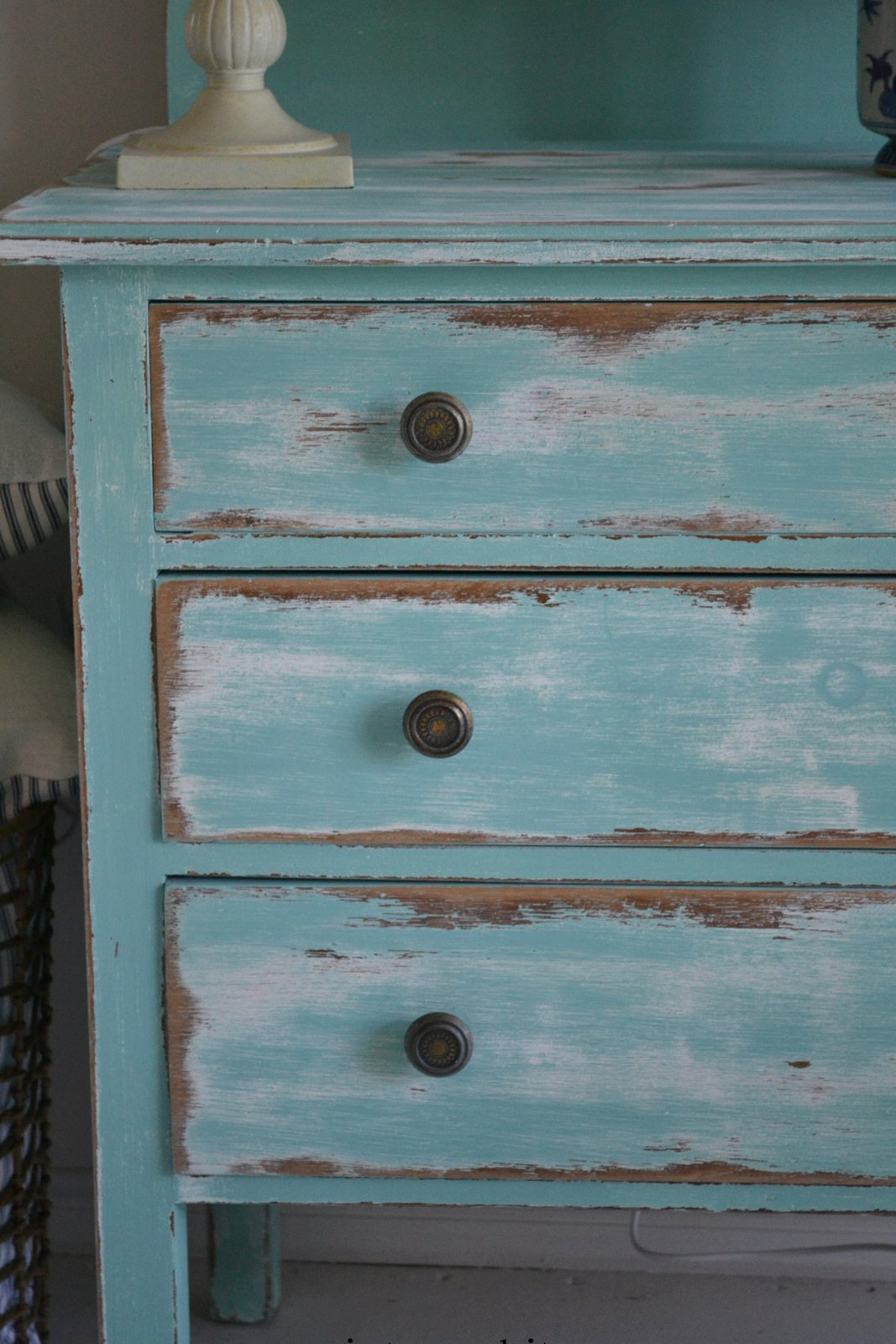 Turquoise Dresser Paint Me White