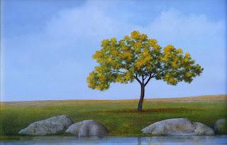solitarios-paisajes-pintados-con-óleo  vistas-solitarias-pinturas