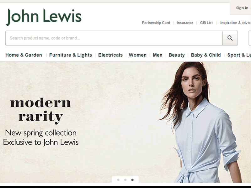 JohnLewis has a huge collection of top quality products at affordable prices