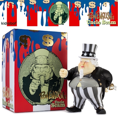 Kidrobot Exclusive Black & Gold Edition Uncle Scam Vinyl Figure by Ron English