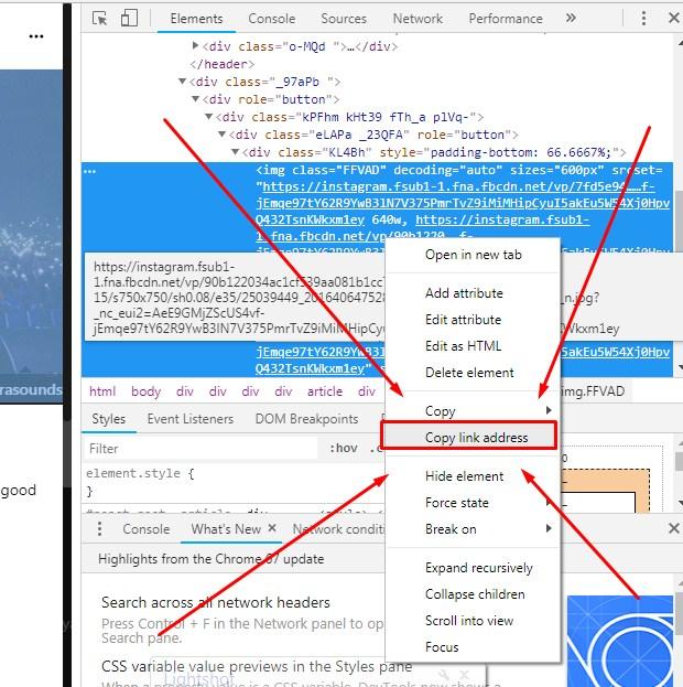 Cara Download Foto IG di Komputer Lewat Inspect Element Terbaru 2019 3