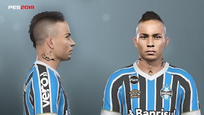 PES 2019 Faces Everton Soares By Prince Hamiz