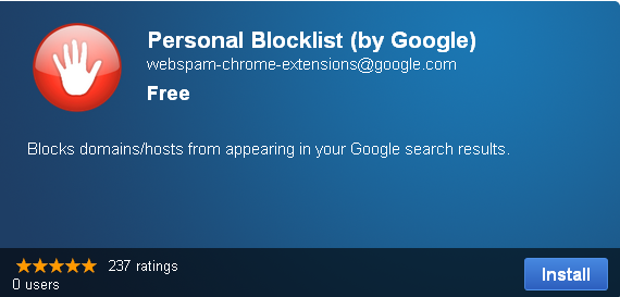 Prevent a website from Google