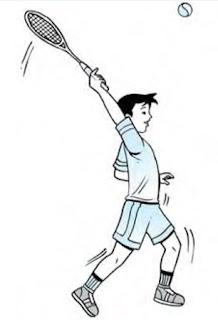 Pukulan overhead smash tenis lapangan