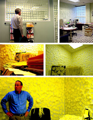 Arte y diseño con post its