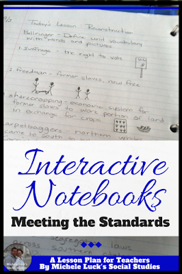 Do you need help with implementing CCSS or any state or national standards in your classroom? Do you want to use an Interactive Notebook teaching format? Read these great ideas for meeting your standards and objectives while holding students accountable for their own learning. #teaching #CCSS #standards #lessons #interactivenotebook #IN #iteach678 #iteachhs