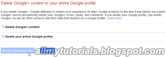 Delete Google Plus Account