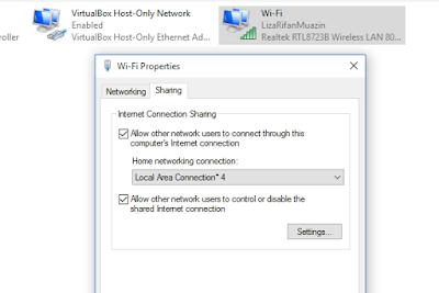 Share Koneksi Internet Ke Hotspot